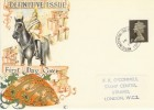 1968 18th Jan. 4d PVA Gum Deep Olive-Brown Pre-release Machin FDC