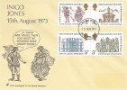 1973 Inigo Jones, Unusual cover design FDC, London WC FDI