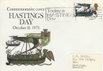1971 Hastings Day Commemorative cover. Today is Hastings Day Slogan.