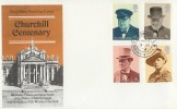 1974 Winston Churchill, Post Office FDC, House of Commons SW1 H/S.