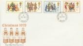 1978 Christmas, Post Office FDC, Windsor Castle Windsor Berks. cds.