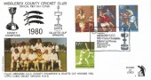 1980 Sporting Anniversaries, Havering No.13 Official FDC, Middlesex CCC Lord's Cricket Ground London NW8 H/S.