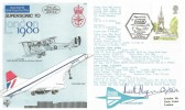 1980 London Landmarks, RAF Museum Official C75 FDC, Supersonically to London 1980 BF 7580 PS H/S. Signed by Concorde Captain Keith Myers.