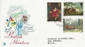 1967 Paintings, Stuart FDC, Art on Stamps Exhibition WC2 H/S.