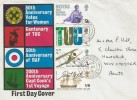 1968 British Anniversaries, Illustrated FDC, Winchester Hants. cds.