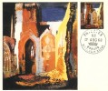 1968 British Paintings, Set of 4 Stamp Publicity Maxicards, Philatex Woburn Bletchley Bucks H/S.