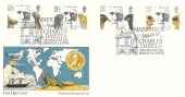 1982 Charles Darwin, Presentation Philatelic Services (PPS) FDC, Maer Hall Tribute to Charles Darwin Newcastle Staffs H/S.