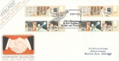 1982 Information Technology, Royal Mail FDC, Gutter Pairs, 1982 Museum of the Year Award City Museum & Art Gallery Stoke-on-Trent H/S.