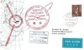 1964 Lufthansa First Flights Frankfurt to Tokyo Over the Pole LH650, LH651, Tokyo Japan cds, Cachets.