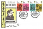 1970 Literary Anniversaries, Wessex FDC, 4 x 5d Charles Dickens Stamps, David Copperfield Winterbourne Bonchurch Ventnor Isle of Wight H/S.