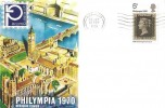 1970 Philympia Stamp Exhibition, Set of 3 Official Exhibition Covers, Pre-released by 3 days, Norwood SE19 Cancel.