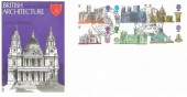 1969 British Cathedrals, Trident FDC, Philatex St. Paul's London EC H/S.