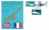 1969 Concorde First Flight, Thames Commemorative Cover, Concorde 002 First Flight Filton Bristol H/S.