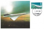 1969 Concorde, Stamp Publicity Maxicard, Concorde 002 First Flight Filton Bristol H/S.