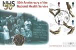 1998 National Heath Service, Westminster Official 50p Coin FDC, 50th Anniversary of the NHS Tredegar Monmouthshire H/S.