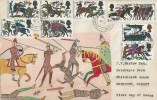 1966 Battle of Hastings, Hand Illustrated FDC, Charmouth Bridport Dorset cds.