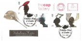 2001 Fabulous Hats, Royal Mail FDC, Fabulous Hats of London Carnaby Street London W1 H/S, The Cap Factory Meter Mark.