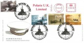 2001 Submarines, Royal Mail FDC, Dive! Dive! Dive! Devonport Plymouth H/S, Polaris UK Limited Meter Mark.
