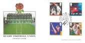 1991 Sports, Sajal Philatelics Official FDC, Rugby Football Union Celebrates Grand Slam Twickenham Middx. H/S H/S