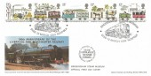 1980 Liverpool & Manchester Railway, Markton Official FDC, Bressingham Steam Museum Diss Norfolk H/S.