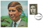 1969 Prince of Wales Investiture, Cameo Maxicard, HRH Prince of Wales K.G. Tymysog Cymru, 1/- stamp only, Manchester FDI.