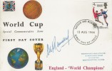 1966 England World Cup Winner, Connoisseur FDC, Harrow and Wembley FDI. Signed by the England Manager Alf Ramsey.