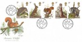 1977 British Wildlife, Fleetwood FDC, First Day of Issue Philatelic Bureau Edinburgh H/S.