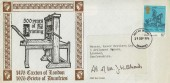 1976 William Caxton, Grieve of Dumfries FDC, 8½p Stamp Only, Dumfries FDI.
