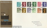 1971 ½p - 9d First Decimal Definitive on PO FDC with Windsor FDI & Strike Cachet