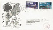 1967 European Free Trade Area, Stuart FDC, Southampton T Cancel.