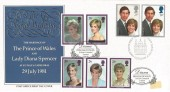 1981 Royal Wedding, Post Office FDC, First Day of Issue London EC H/S, doubled with 1998 Diana Set, Diana Princess of Wales St. Paul's Cathedral London H/S.