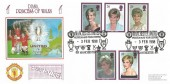 1998 Diana Princess of Wales, Dawn Football Official FDC, Manchester United Museum and Tour Centre Manchester H/S.