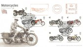 2005 British Motorcycles, Royal Mail FDC, Triumph Meter Mark, Motorcycles Coventry H/S.
