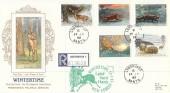 1992 Wintertime, Registered Presentation Silk Cigarette Series FDC, Lyndhurst Hants. cds + Cachet.