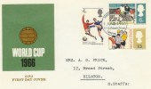 1966 World Cup Football (Phosphor) FDC, Philatelic Bureau London EC1 H/S