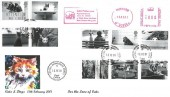 2001 Cats & Dogs, Phil Sheridan FDC, Cats Protection Horsham Meter Mark, Catshill Bromsgrove Worcs. cds.