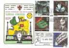 1996 100 Years of the Cinema, Dawn Official Leeds United FDC, 25 years of Official Football Postal Covers Best Wishes from Leeds H/S.