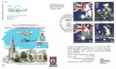 1988 Australian Bicentenary, RFDC No. 64 Official FDC, 50th Anniversary of RAF Cottesmore BF2177PS H/S, Signed.