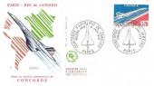1976 Concorde Paris - Rio de Janeiro French FDC, Concorde Paris Rio de Janeiro Premier Jour Paris H/S.