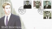 2003, Prince William, Buckingham Covers No.35 Official FDC, 21st Birthday of Prince William of Wales Caernarfon H/S.