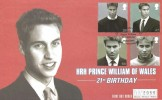 2003, Prince William, Westminster Official FDC, HRH Prince William 21st Birthday St. Andrews Fife Scotland H/S.