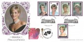 1998, Diana, Princess of Wales, Bradbury LFDC No.160 Official FDC, Doubled with 2001, Fuschia Princess of Wales Greetings Stamp, 40th Anniversary Althorp, Northampton H/S (her 40th Birthday).