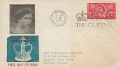 1953 Coronation of Elizabeth II, Illustrated FDC, 2½d Stamp Only, Long Live The Queen Slogan London.