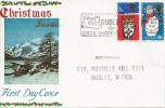 1966 Christmas, Connoisseur FDC, Dudley for Zoo & Shopping Slogan Dudley Worcs.