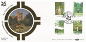 1983, British Gardens, Benham BOCS(2)21 Official FDC, The National Trust Sissinghurst Castle Kent H/S.
