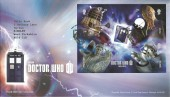 2013, Doctor Who Self Adhesive Miniature Sheet, Royal Mail FDC, First Day of Issue Cardiff H/S.