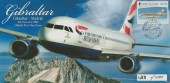 2006 75th Anniversary of the Gibraltar Airmail Service, Illustrated FDC, £1.60 Boeing 737 stamp only, Gibraltar to Madrid Gibraltar H/S