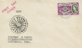 1960 Europa, Illustrated FDC, 6d Stamp only, South Western TPO NT 2 cds