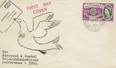 1960 Europa, Illustrated FDC, 6d Stamp only, South Western TPO NT 2 cds.