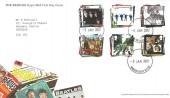 2007 The Beatles, Royal Mail FDC, Windsor Castle SL4 1NJ cds.
